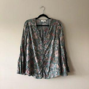 Umgee paisley printed boho style top